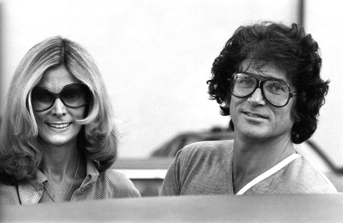 Actor Michael Landon and wife Lynn Noe sighted on February 9, 1979 on Rodeo Drive in Beverly Hills, California.