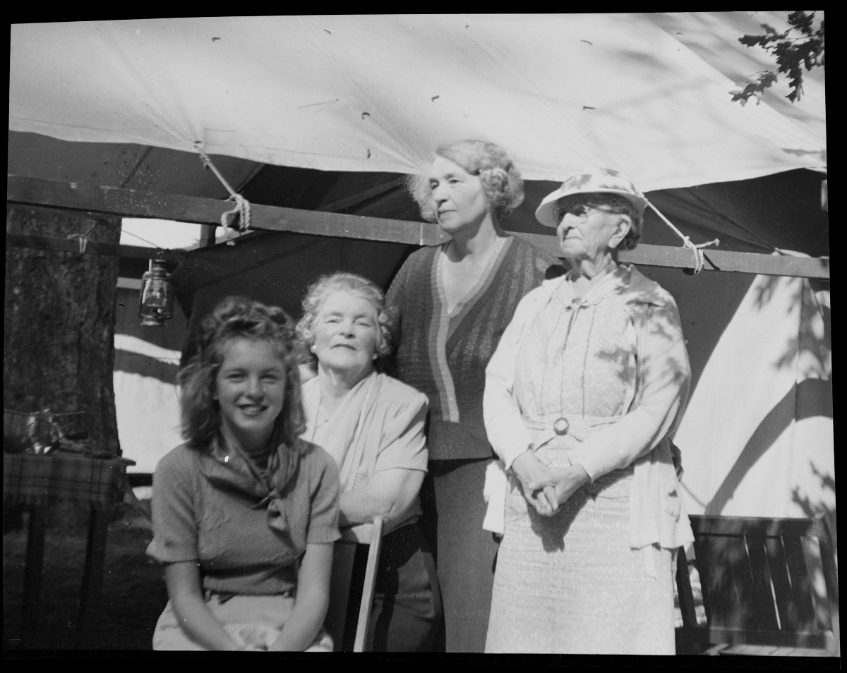 Norma Jeane Baker with Ana Lower and other family friends
