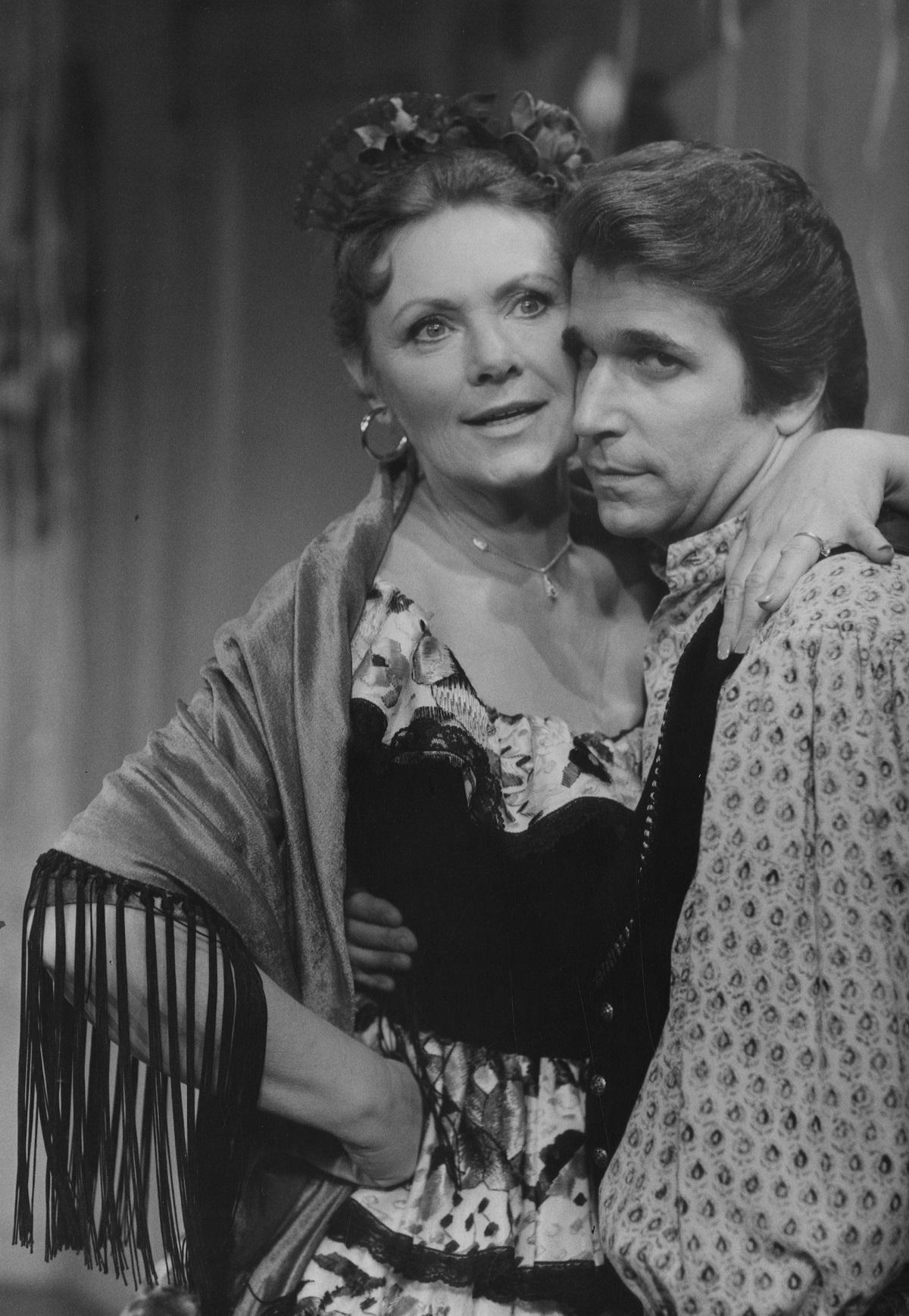 Marion Ross and Henry Winkler