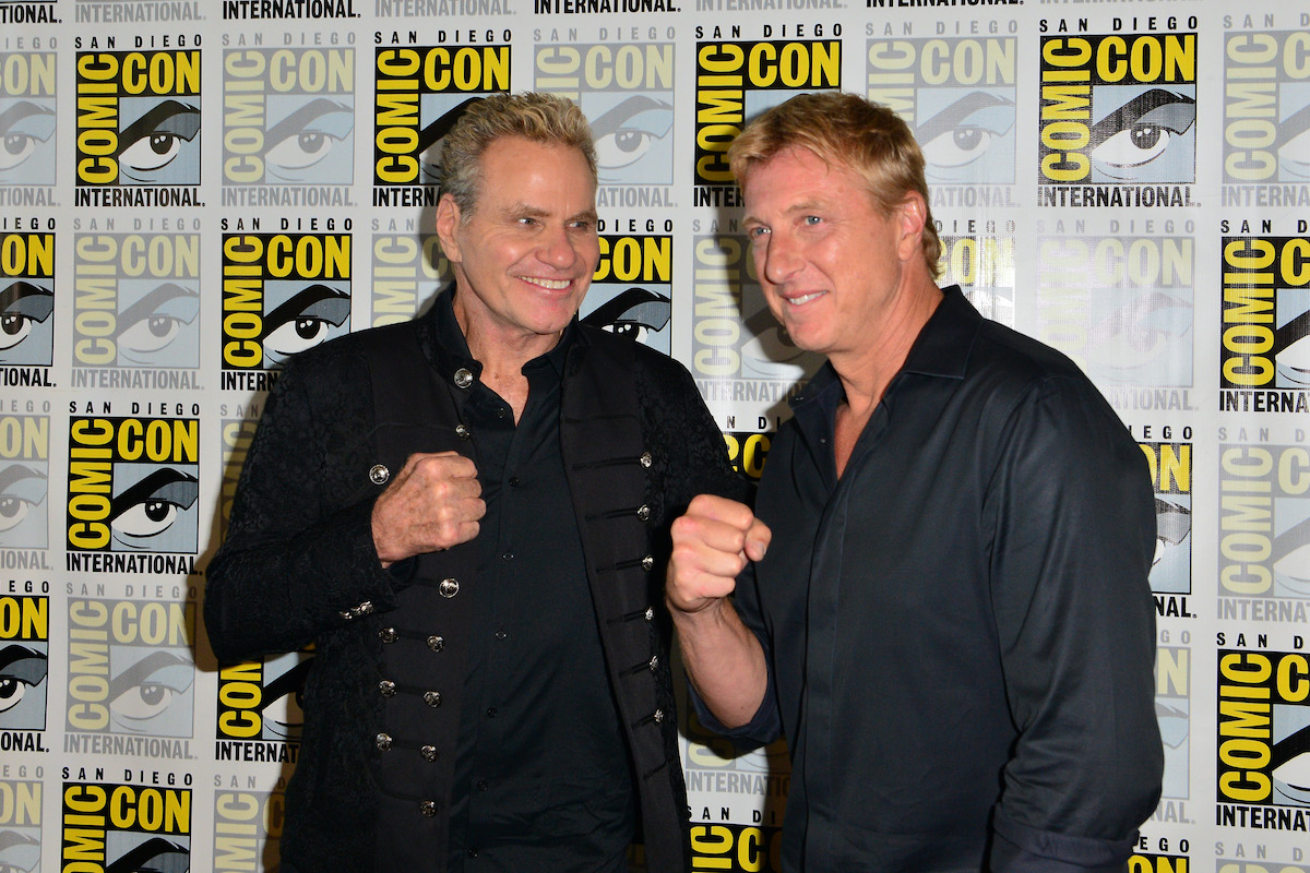 Martin Kove and William Zabka at a 'Cobra Kai' press event