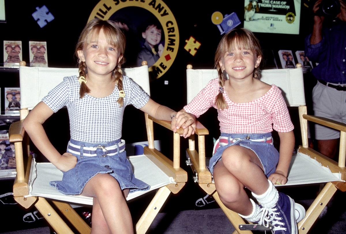 Mary-Kate Olsen and Ashley Olsen in 1996