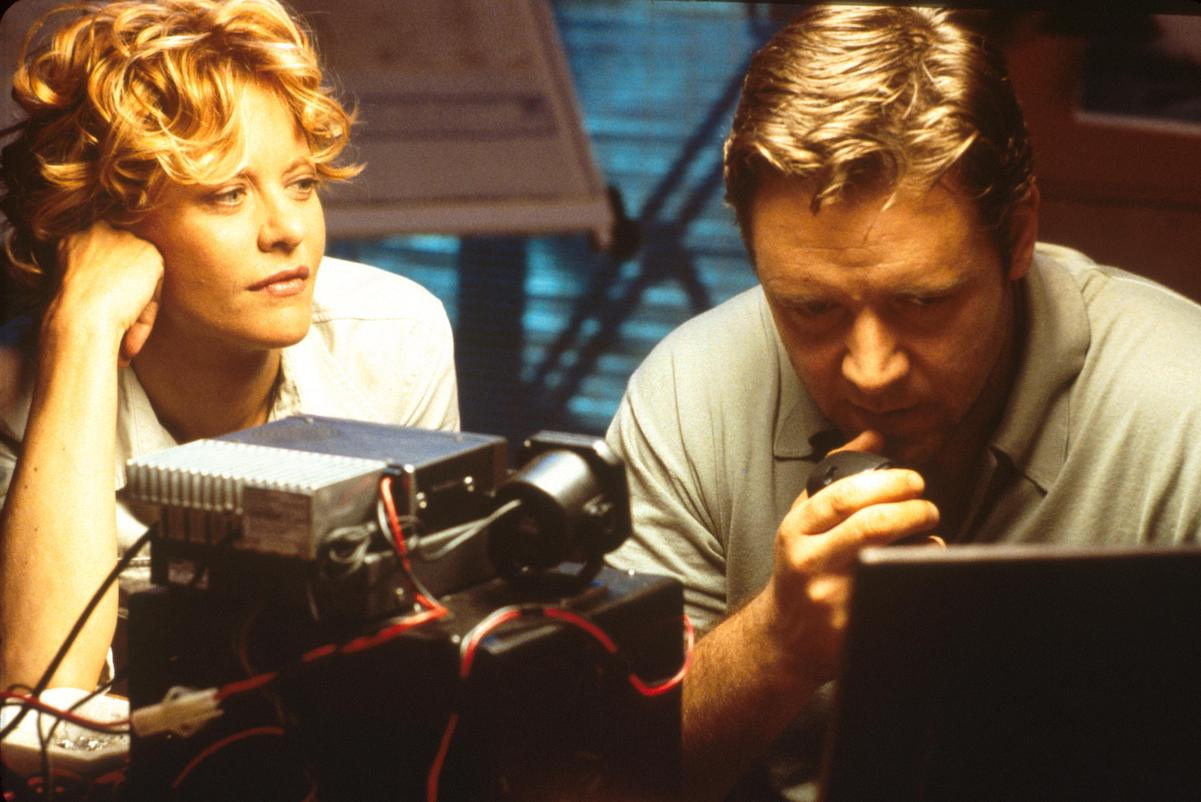 Meg Ryan and Russell Crowe in a scene from 'Proof of Life'