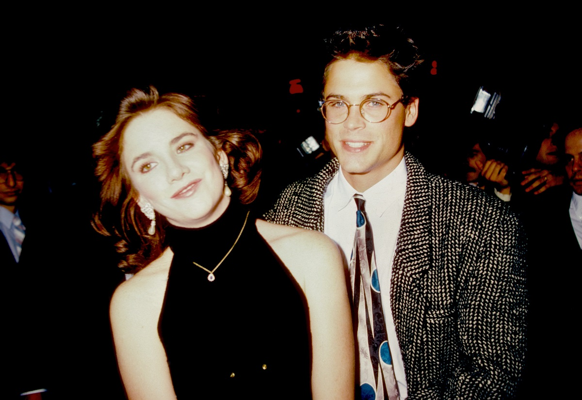 Rob Lowe and Melissa Gilbert in 1987