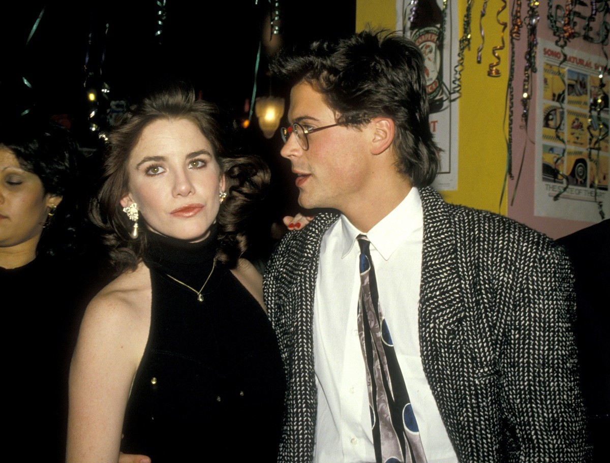 Melissa Gilbert and Rob Lowe in 1988