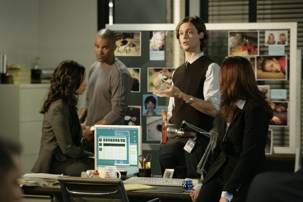 Meta Golding, Shemar Moore, Matthew Gray Gubler, and Paget Brewster in 'Criminal Mnds'