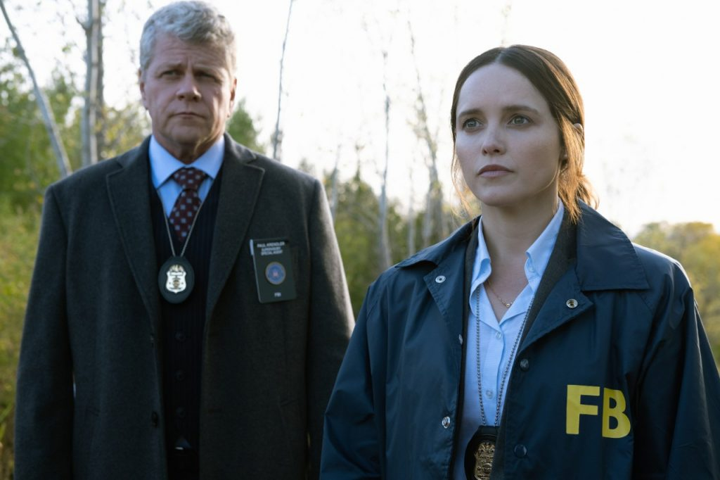 Michael Cudlitz with Rebecca Breeds on 'Clarice'   Brooke Palmer/CBS via Getty Images