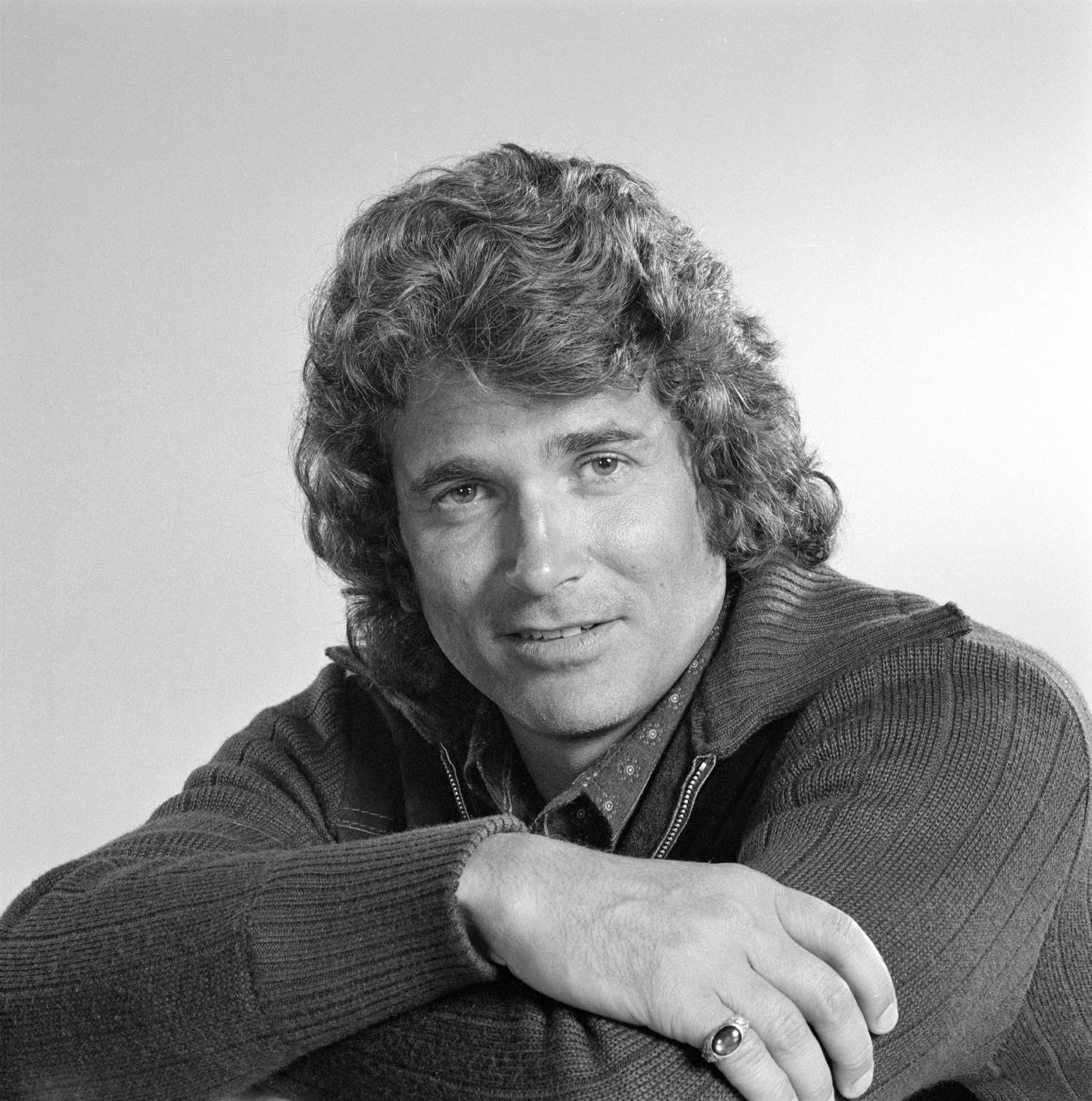 """LOS ANGELES - MARCH 26: Michael Landon photographed for """"American Jr. Miss."""" Image dated March 26, 1974."""