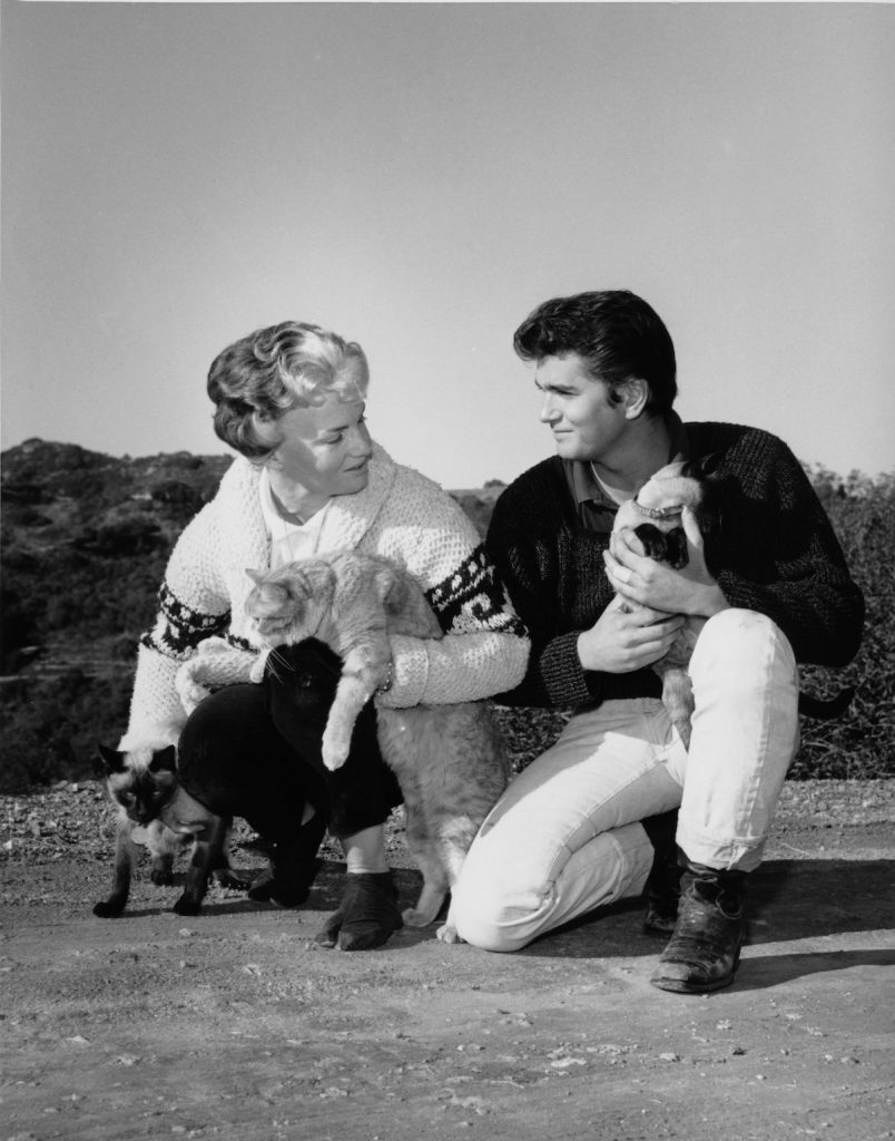 Michael Landon with his first wife, Dodie Levy-Fraser