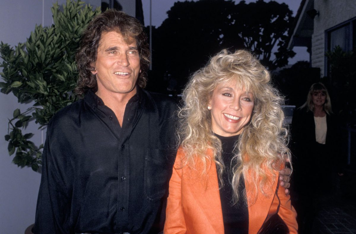 Michael Landon and wife Cindy Landon in 1989