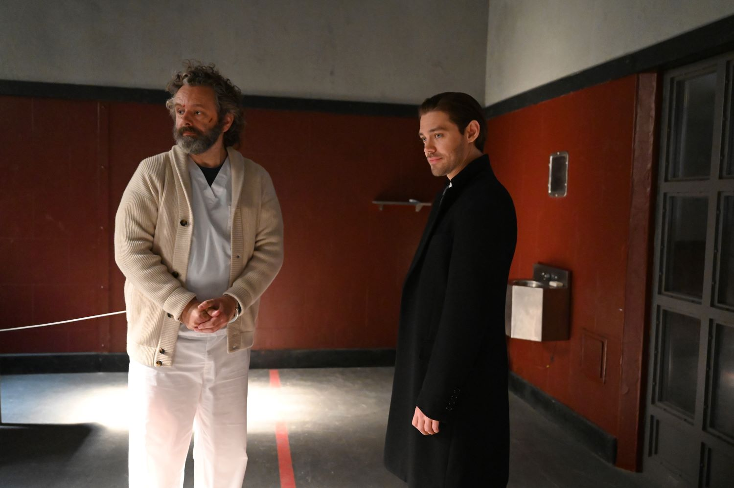 Michael Sheen and Tom Payne in 'Prodigal Son'
