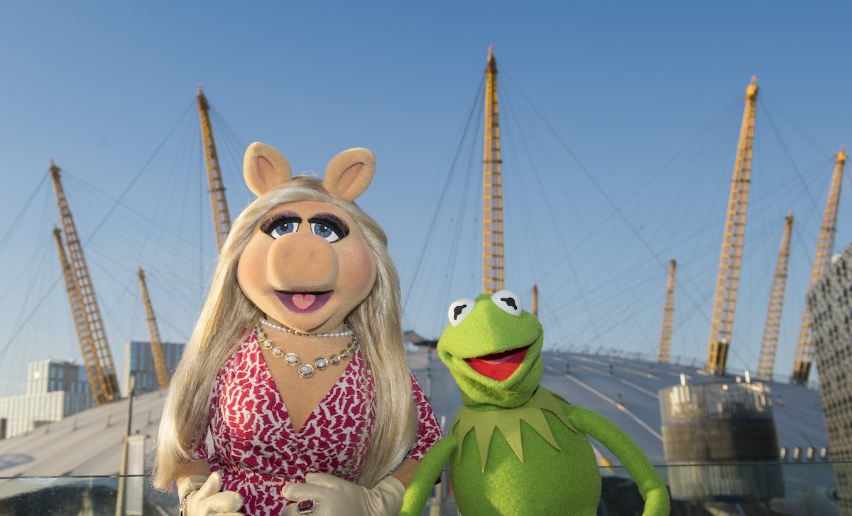 Miss Piggy and Kermit the Frog at The O2 Arena