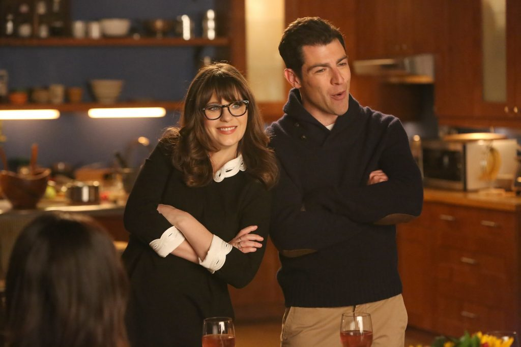 Zooey Deschanel and Max Greenfield in 'New Girl'