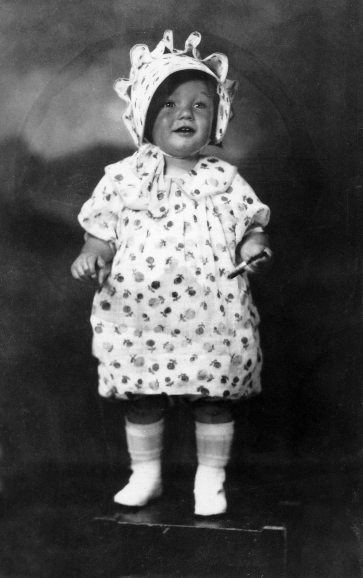 Norma Jeane Mortenson in 1928