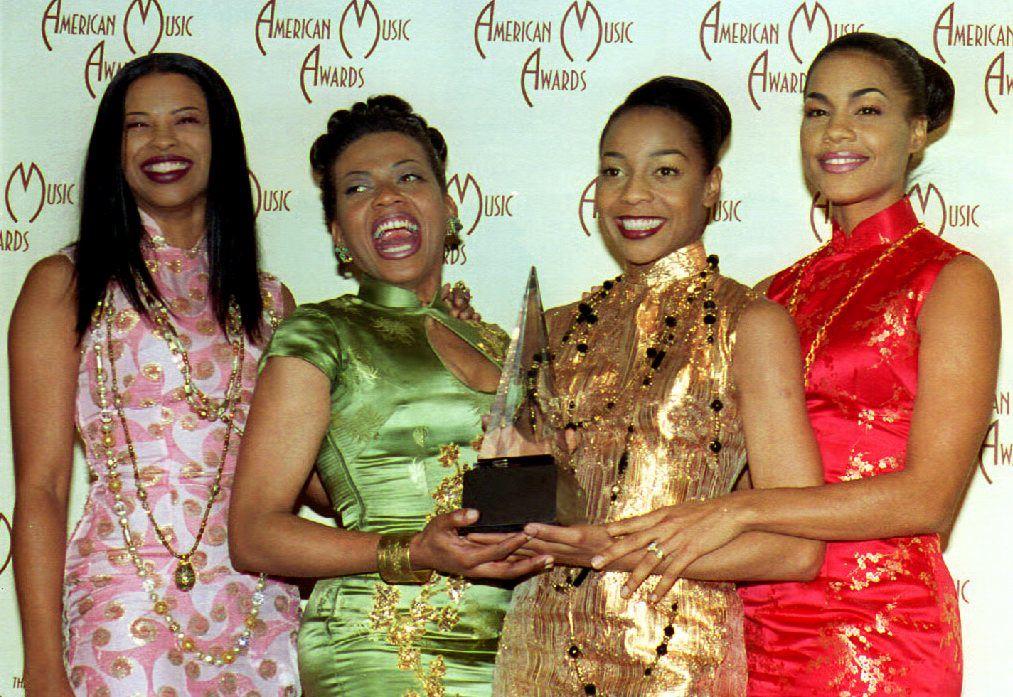 Original En Vogue members (l to r) Dawn Robinson, Maxine Jones, Terry Ellis, and Cindy Herron