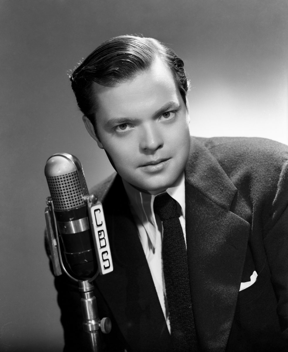 Orson Welles poses for a portrait in New York City