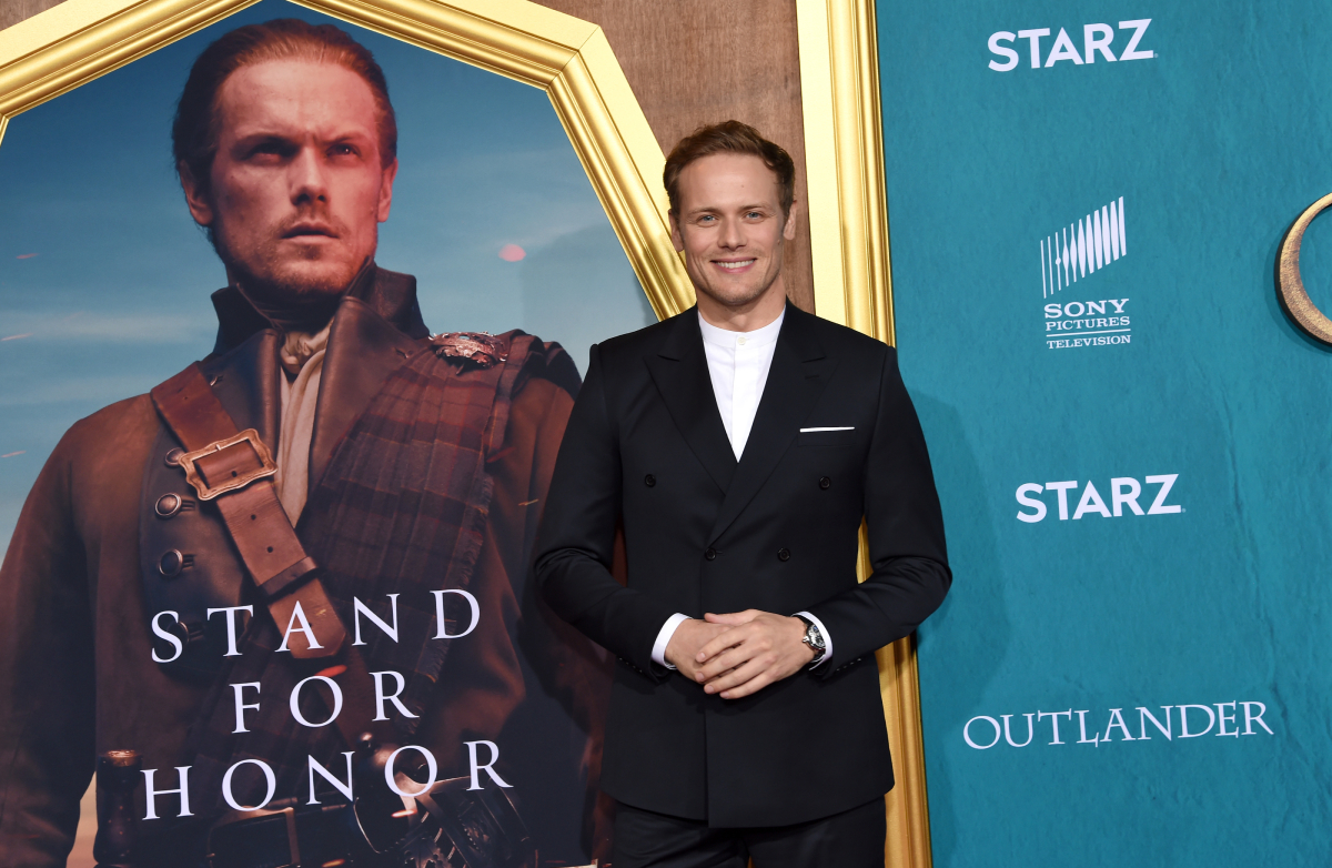 """Sam Heughan attends the Starz Premiere event for """"Outlander"""" Season 5 at Hollywood Palladium on February 13, 2020 in Los Angeles, California"""