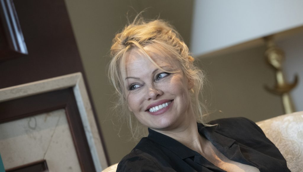 Film and television star Pamela Anderson during an interview with the German Press Agency | Paul Zinken/Getty Images