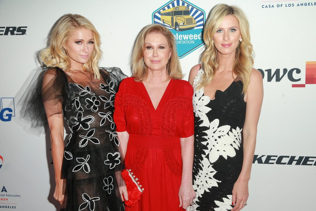 Paris Hilton, Kathy Hilton and Nicky Hilton Rothschild attend the CASA Of Los Angeles' 2018 Evening To Foster Dreams Gala at The Beverly Hilton Hotel on April 18, 2018 in Beverly Hills, California.