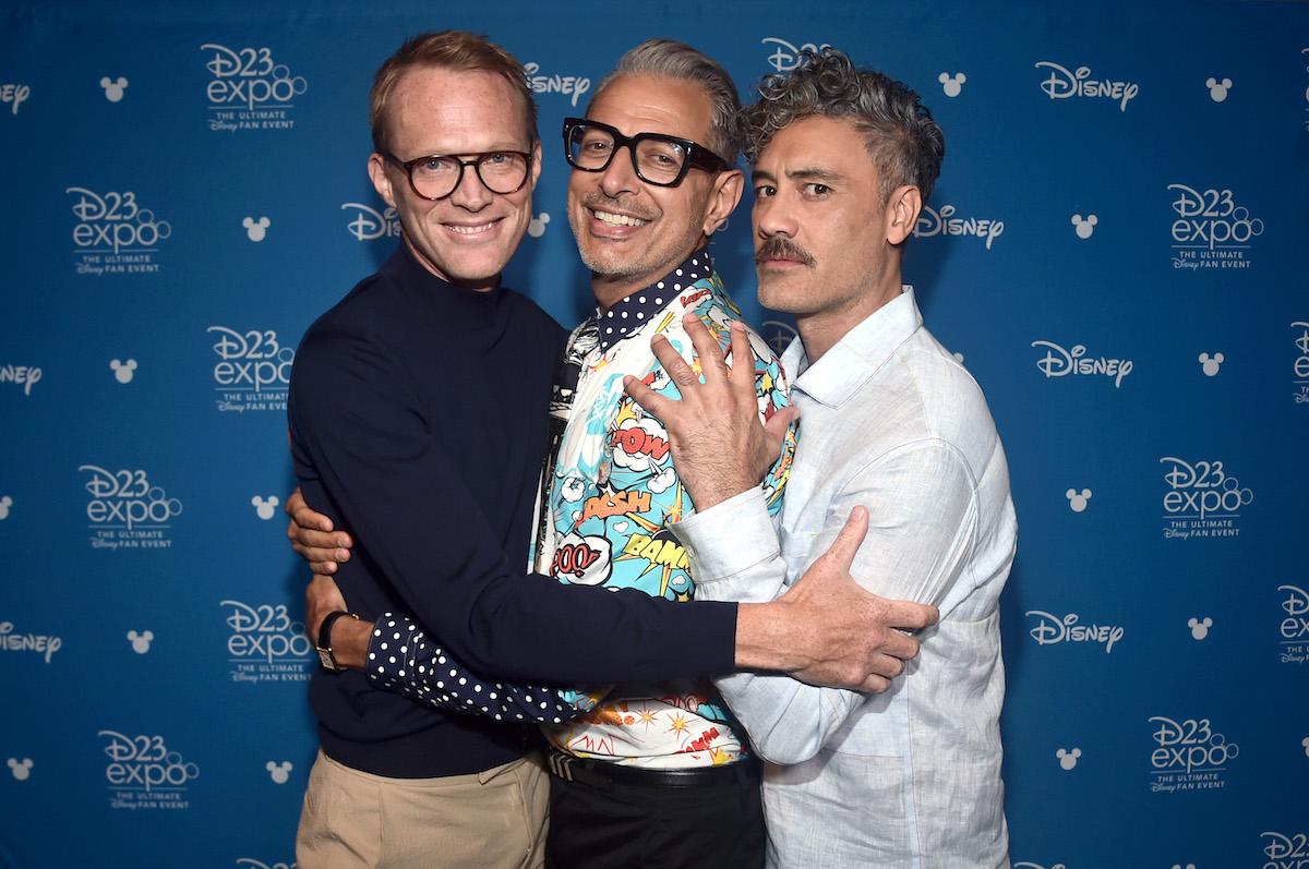 Paul Bettany, Jeff Goldblum, and Taika Waititi at Disney's D23 EXPO 2019