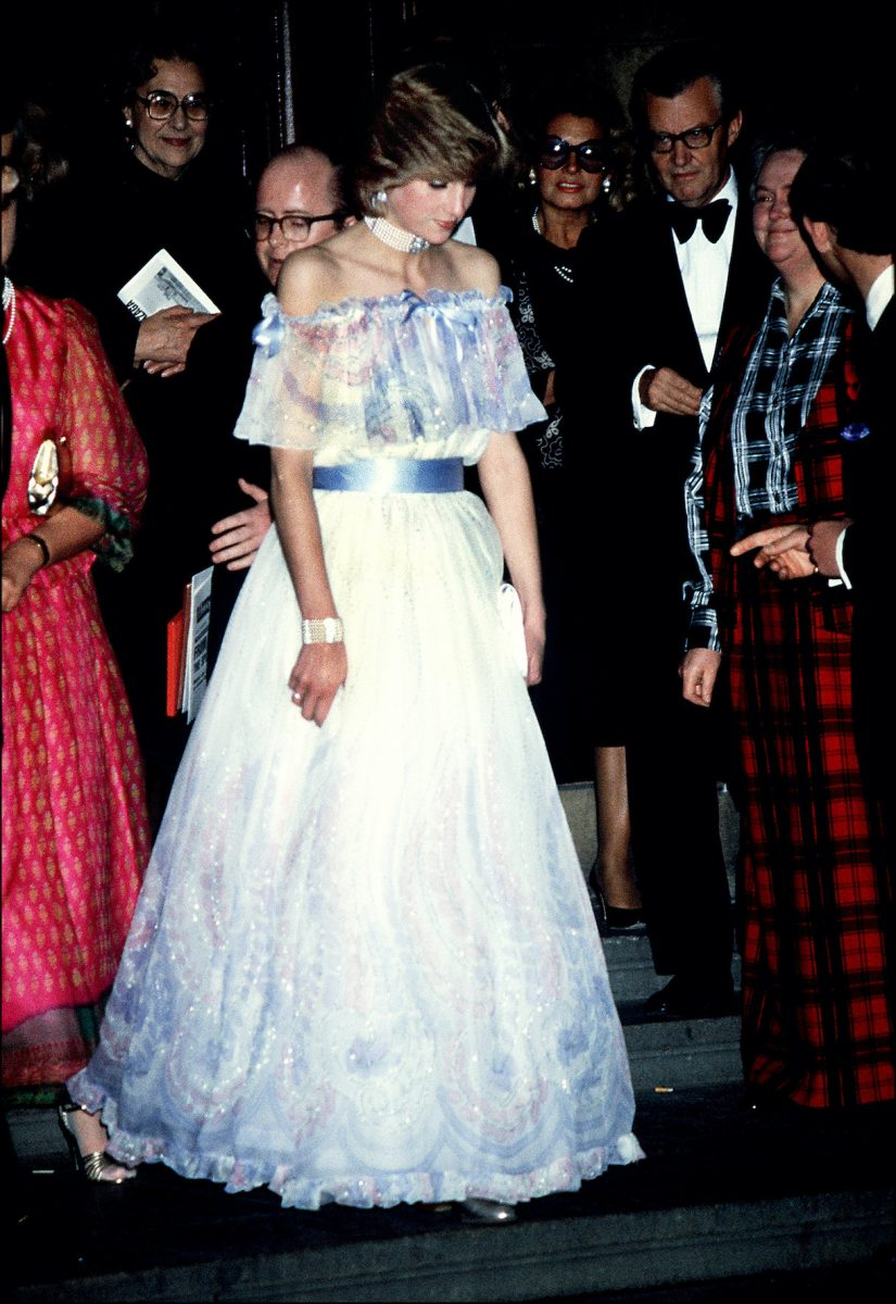 The Princess of Wales attends a gala recital evening at the Victoria and Albert Museum in 1981