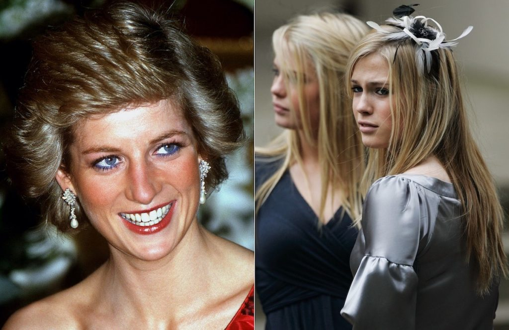 Princess Diana (L) and her nieces, Lady Amelia Spencer and Lady Eliza Spencer (R)   Jayne Fincher/Tim Graham Photo Library/Getty Images