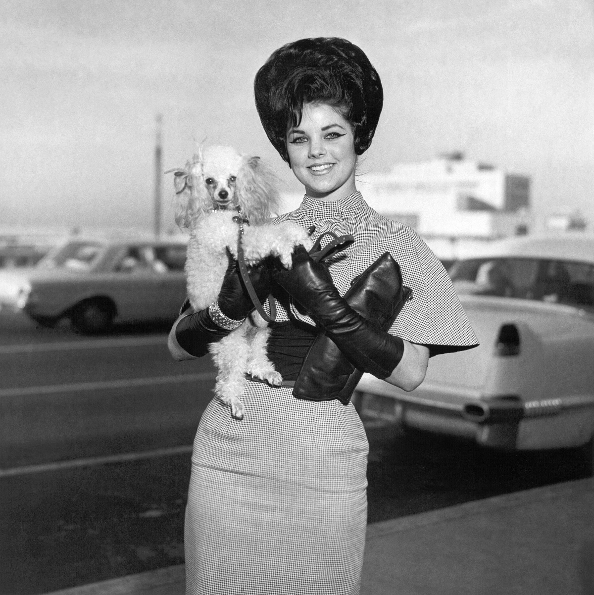 Priscilla Beaulieu in Jan. 1963 with her new dog, Honey