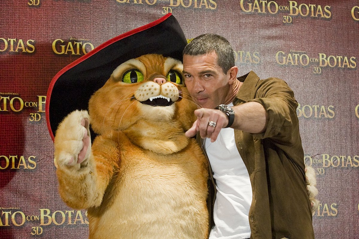 Antonio Banderas at the 'Puss in Boots' press conference in Mexico