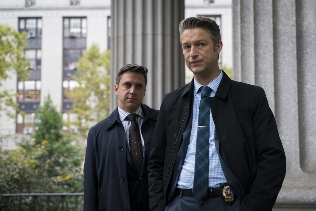 Raúl Esparza and Peter Scanavino in 'Law & Order: SVU'