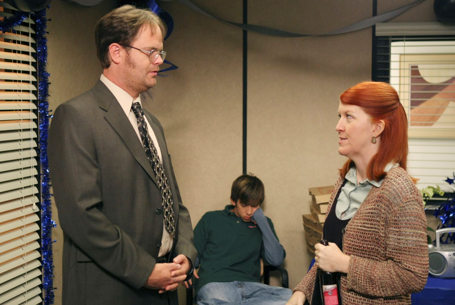 Rainn Wilson, Kevin McHale, and Kate Flannery on 'The Office'
