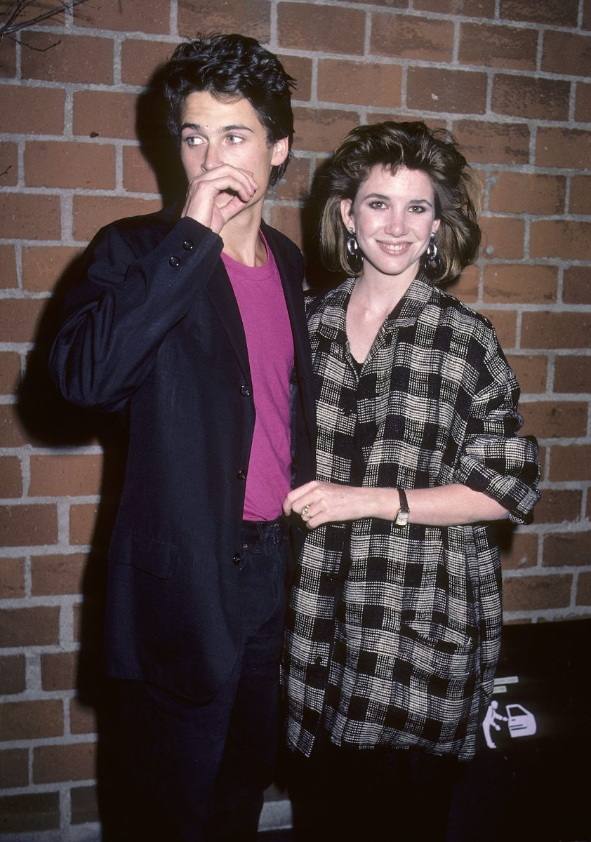"""Actor Rob Lowe and actress Melissa Gilbert attend """"The Hotel New Hampshire"""" West Hollywood Premiere in 1984"""