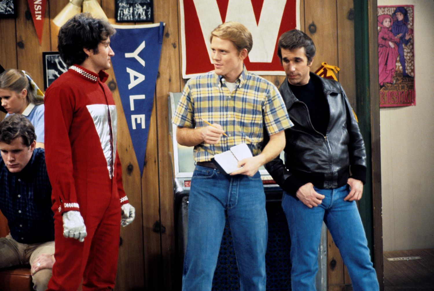 Robin Williams, Ron Howard, and Henry Winkler on 'Happy Days'