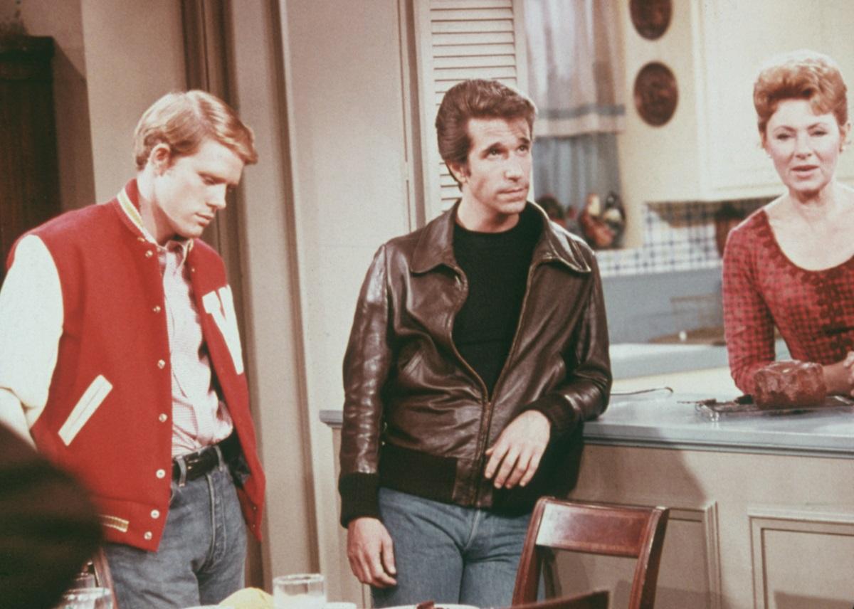 Ron Howard, Henry Winkler, and Marion Ross on 'Happy Days'