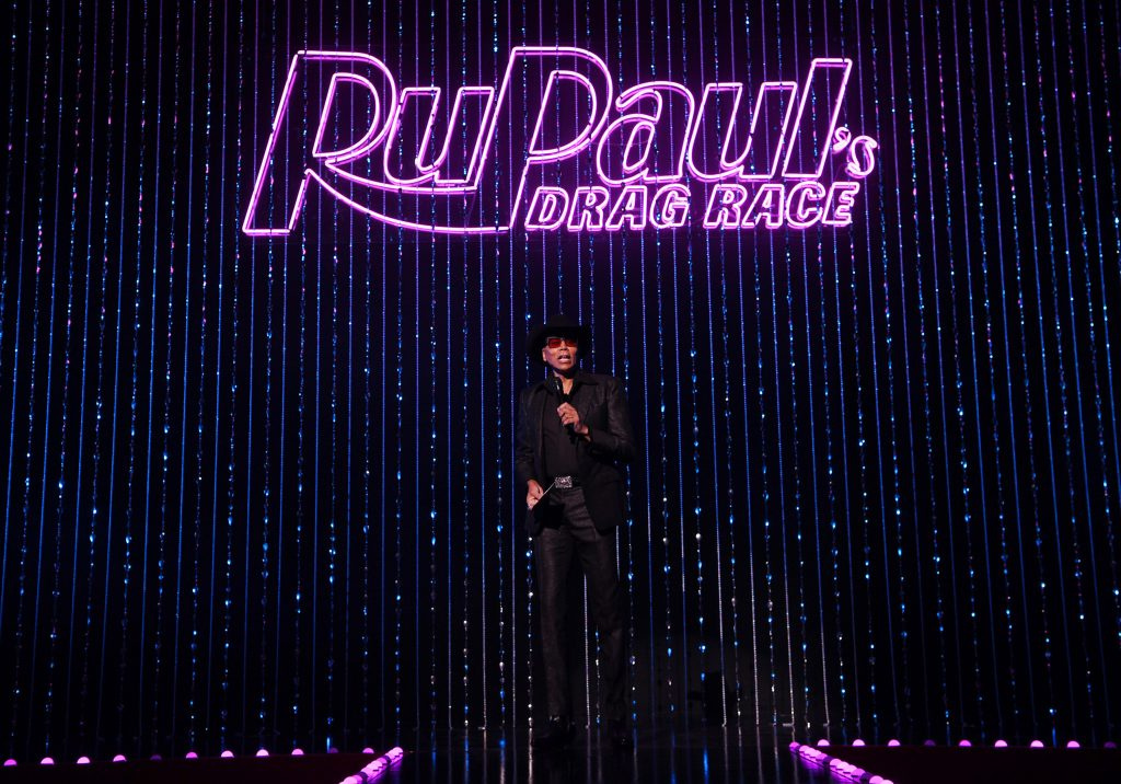 RuPaul speaks to the audience before the world premiere of 'RuPaul's Drag Race Live!'