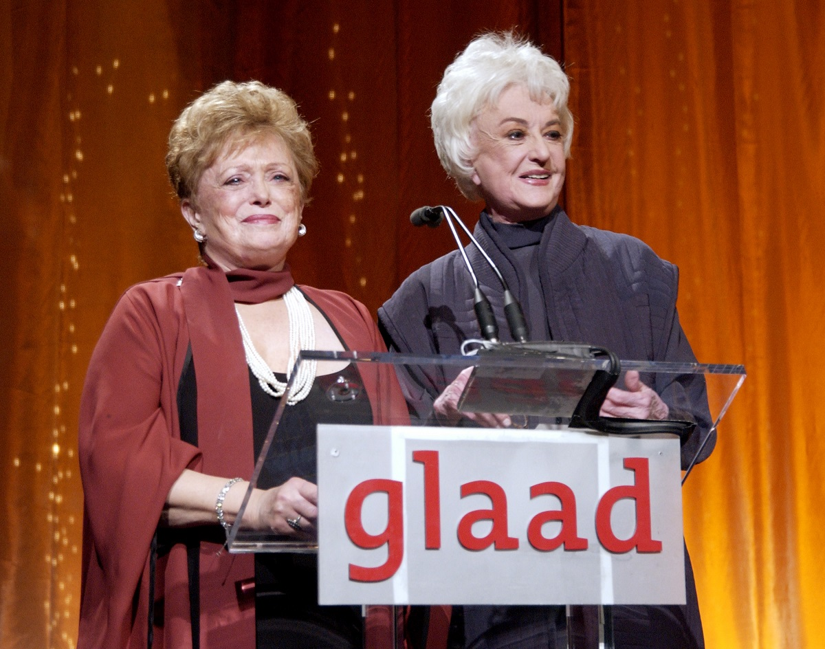 Rue McClanahan and Bea Arthur