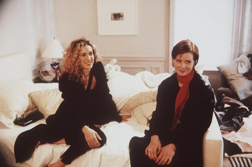 Sarah Jessica Parker and Cynthia Nixon on 'Sex and the City'