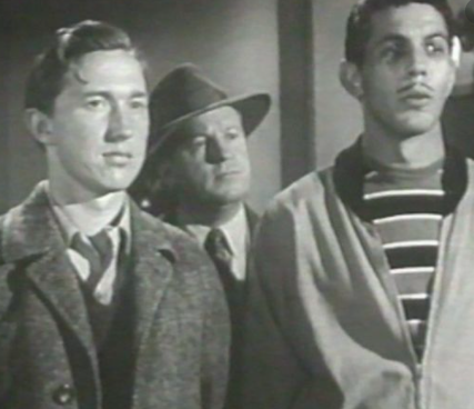 A young Leonard Nimoy, right, in 'Dragnet' on an episode titled 'The Big Boys', 1954