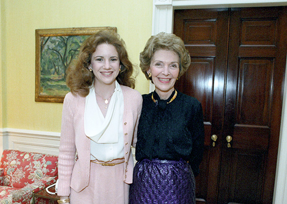 Melissa Gilbert and First Lady Nancy Reagan in 1982