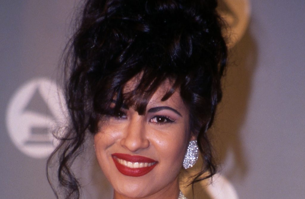 Selena in the press room at the 1994 Grammy Awards in New York City, New York   Vinnie Zuffante/Getty Images