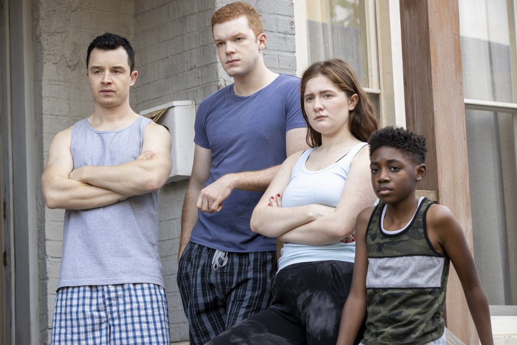 'Shameless' stars Noel Fisher as Mickey Milkovich, Cameron Monaghan as Ian Gallagher, Emma Kenney as Debbie Gallagher and Christian Isaiah as Liam Gallagher