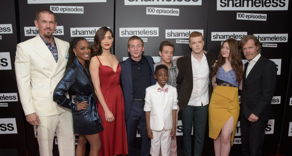 'Shameless' cast Steve Howey, Shanola Hampton, Emmy Rossum, Jeremy Allen White, Christian Isaiah, Ethan Cutkowsky, Cameron Monaghan, Emma Kenney and William H. Macy