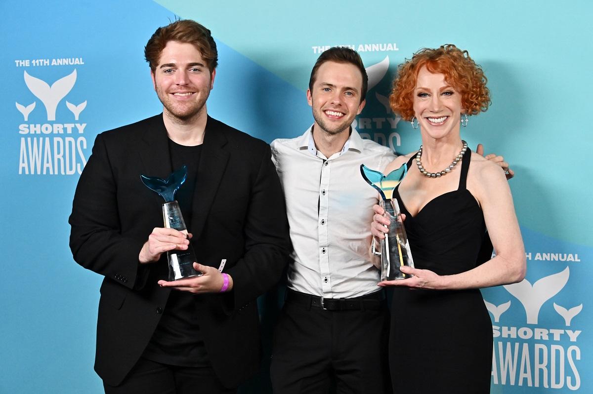 Shane Dawson, Ryland Adams and Kathy Griffin