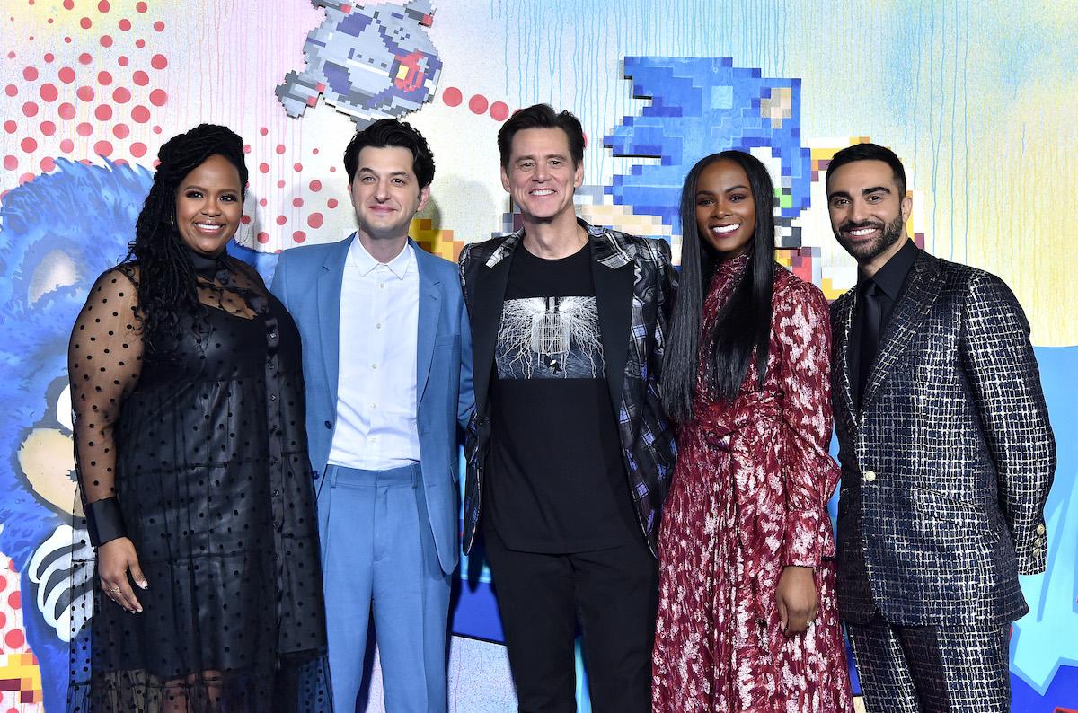 'Sonic the Hedgehog' stars Natasha Rothwell, Ben Schwartz, Jim Carrey, Tika Sumpter, and Lee Majdoub