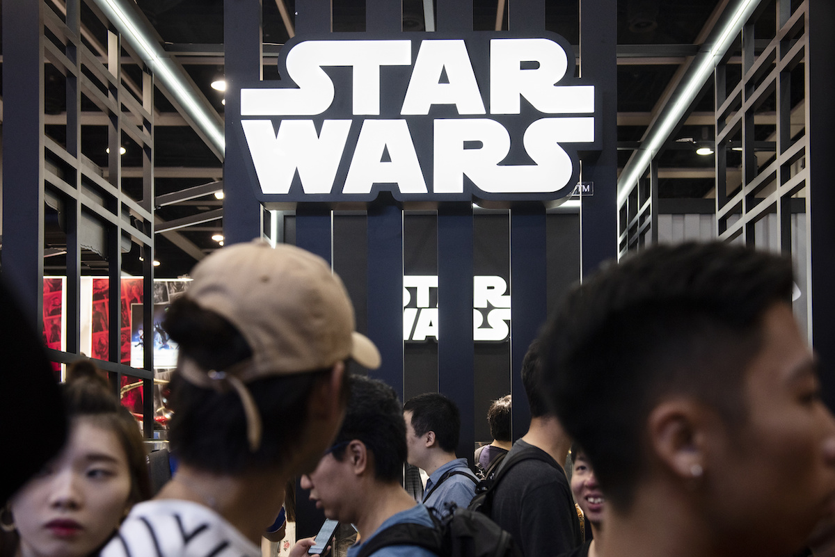 Disney's Star Wars booth at Ani-Com & Games event in Hong Kong