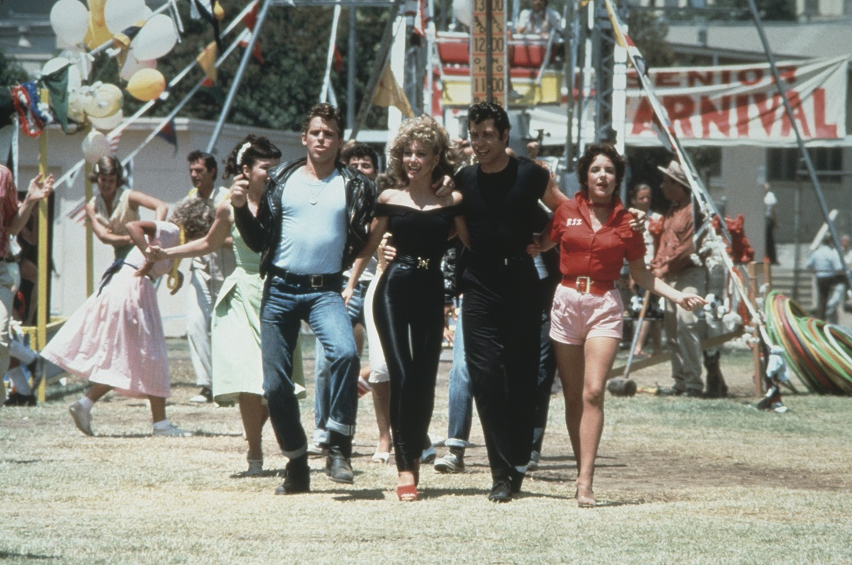 Jeff Conaway, Olivia Newton-John, John Travolta and Stockard Channing