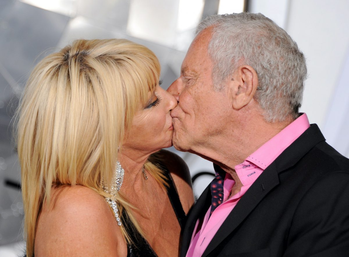 """Suzanne Somers and husband Alan Hamel arrive at the premiere of Columbia Pictures' """"Passengers"""" at Regency Village Theatre on December 14, 2016"""