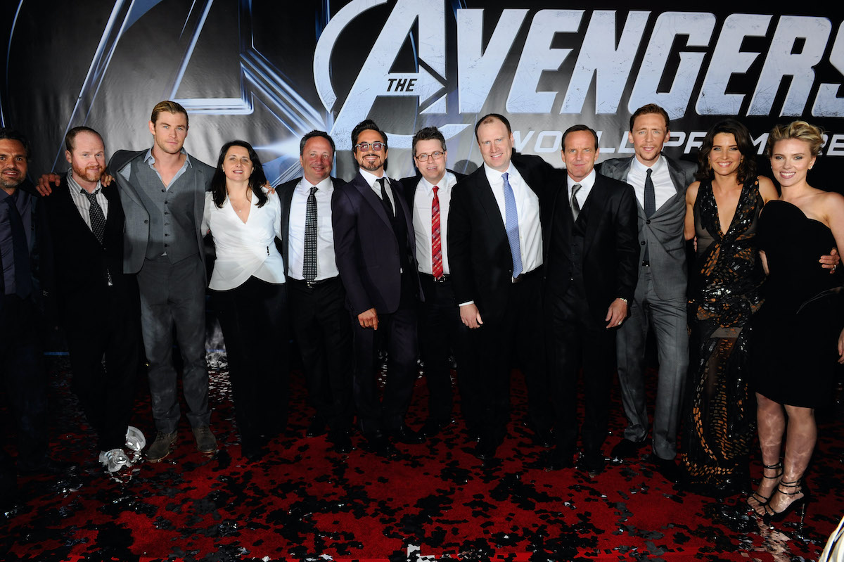 The cast and crew of 'The Avengers'