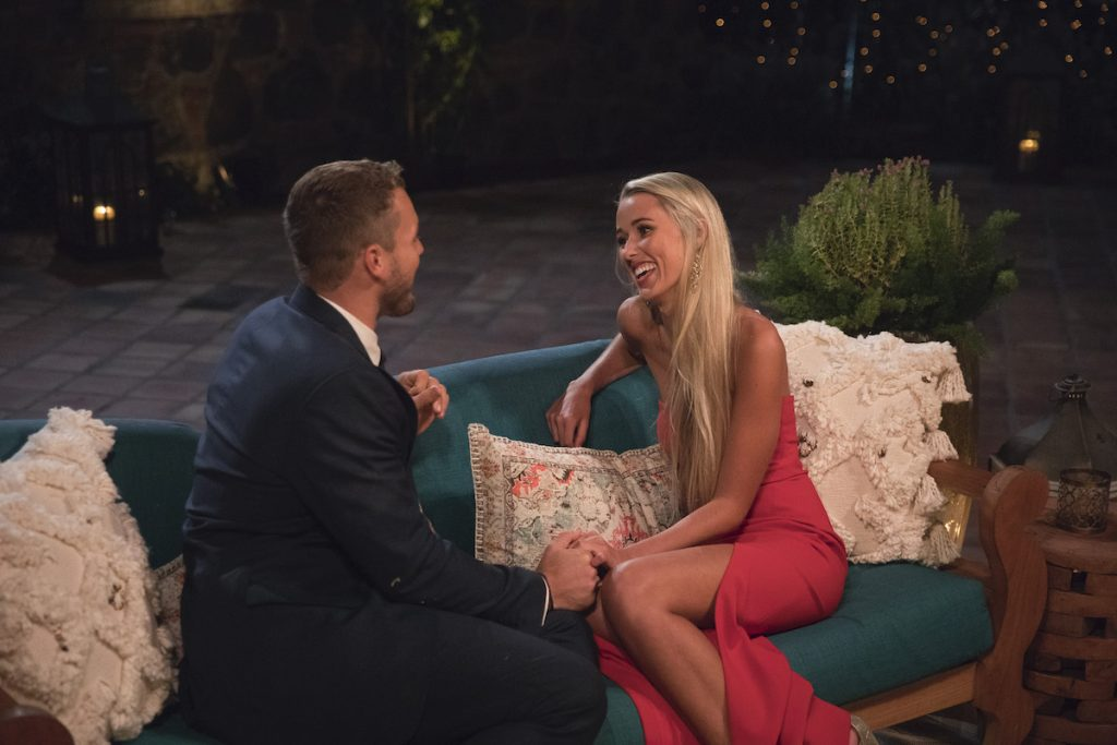 Colton Underwood and Heather Martin in 'The Bachelor'