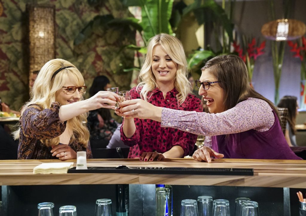 'The Big Bang Theory' stars Melissa Rauch (left), Kaley Cuoco (center), and Mayim Bialik | Sonja Flemming/CBS via Getty Images