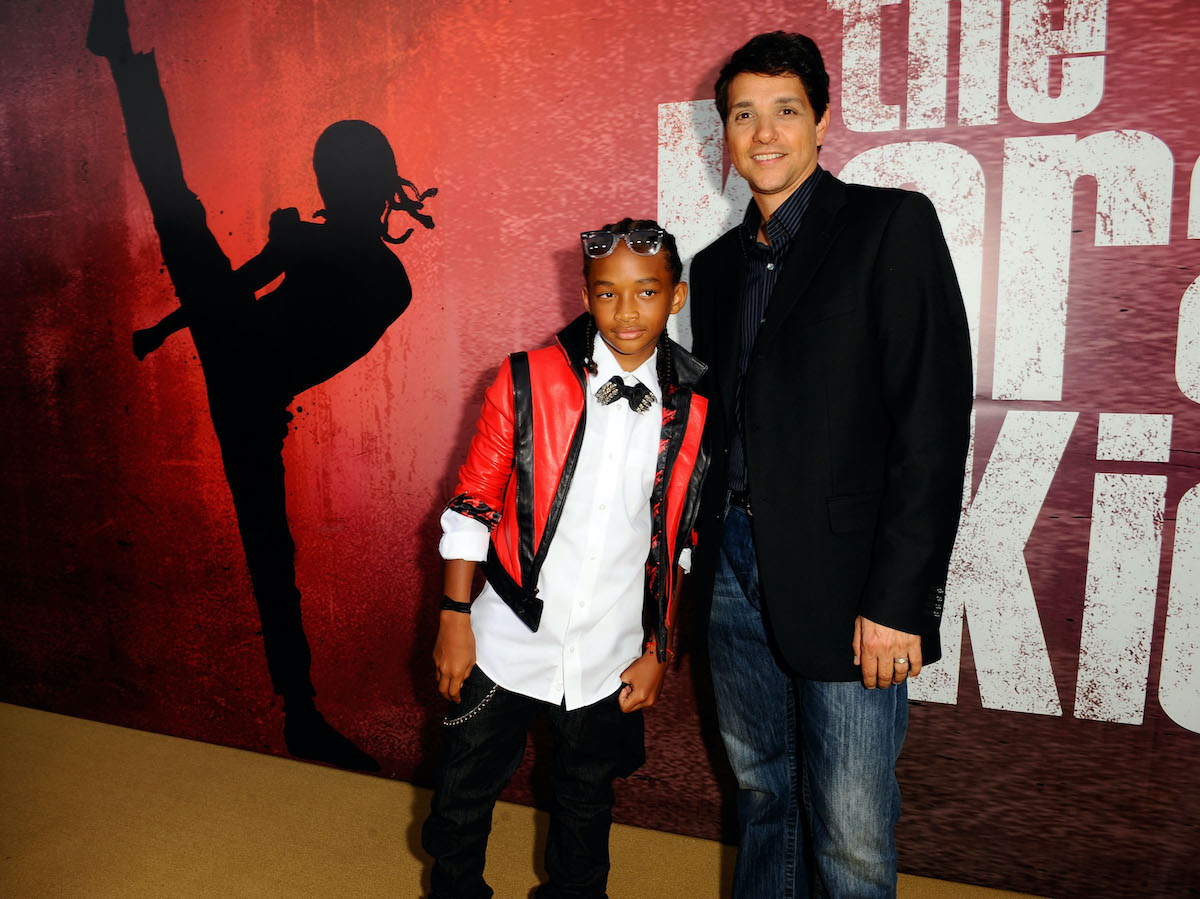 Jaden Smith and Ralph Macchio at 'The Karate Kid' premiere in 2010
