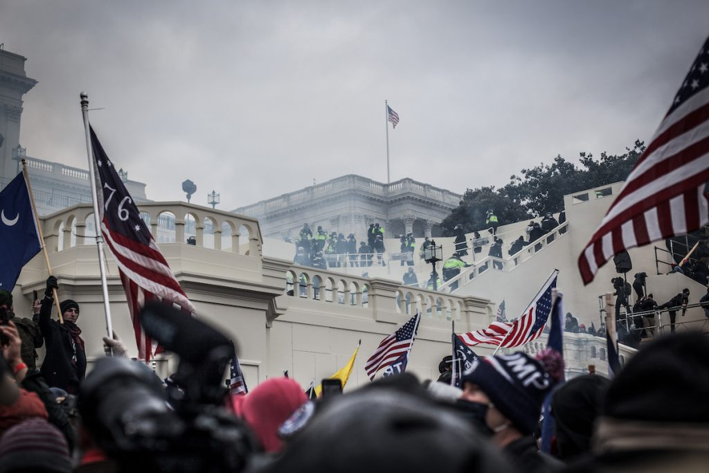 Photo from the day of the attack at the U.S. Capitol